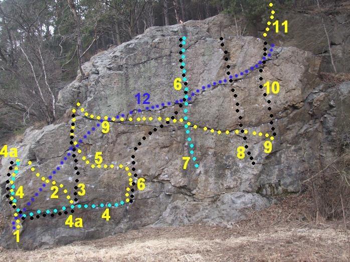 Mapka boulderů